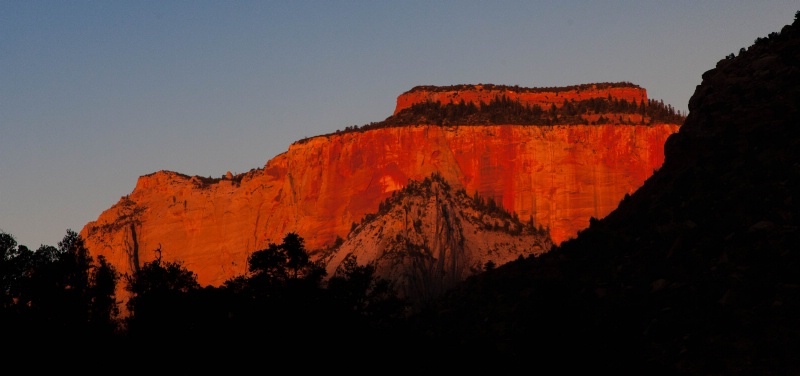 Sunrise on the West Temple - Zion National Park