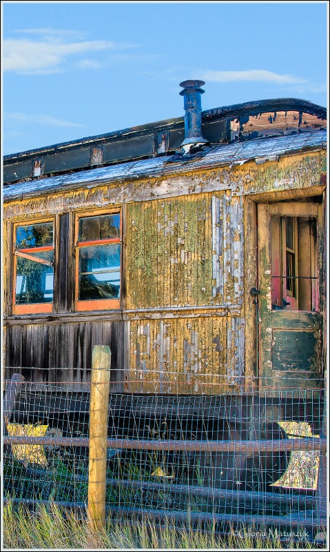 Old train car, Virginia City, Montana