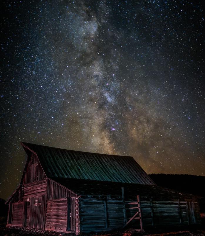 Star Dust over Moulton Barn