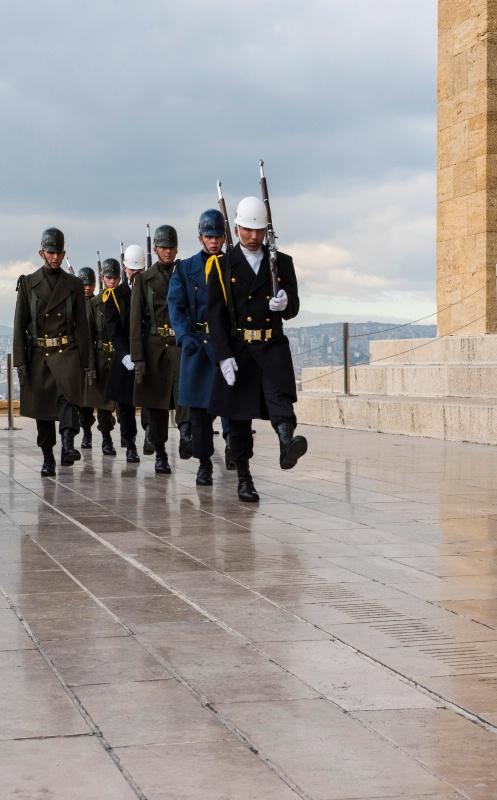 Turkish Soldiers in Ankara, Turkey