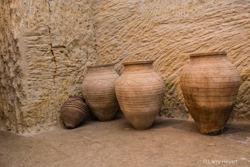 Pots on display in Neveshire, Turkey