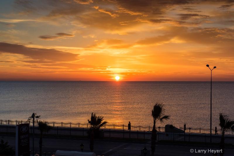Sunrise in Canakkale, Turkey
