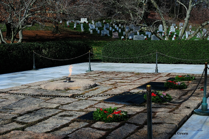 john and jackie kennedys  burial site