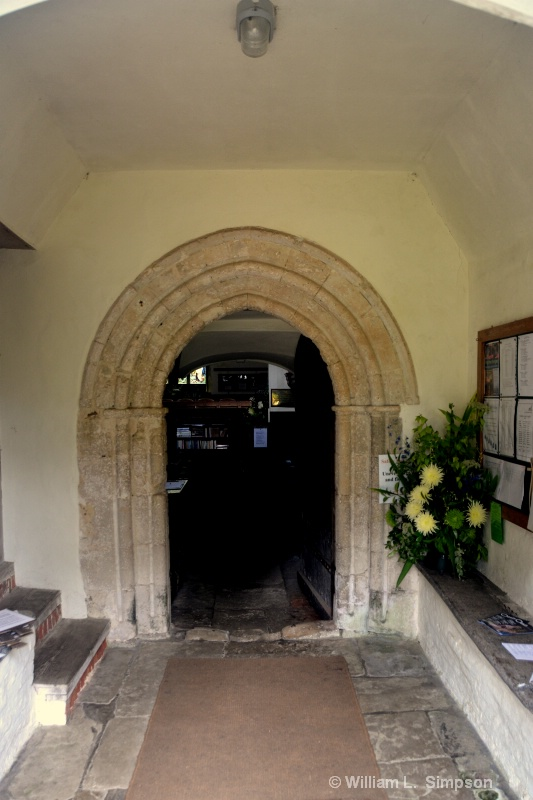 ENTRANCE TO A 900 YEAR OLD CHURCH