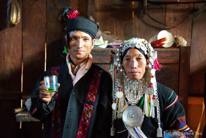 Couple in Traditional Festive Wear, Myanmar