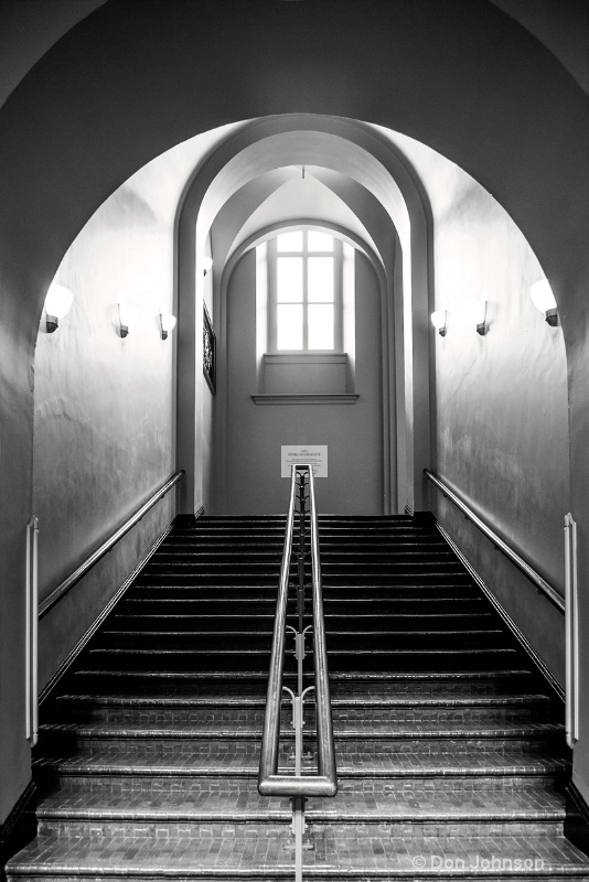B&W Up Staircase 046