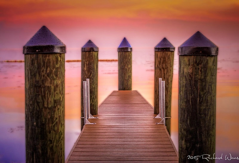 """Sunset at the Dock"""