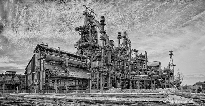 Steel Stacks BW 2