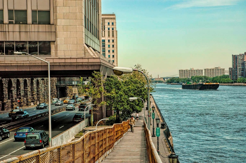Along the East River