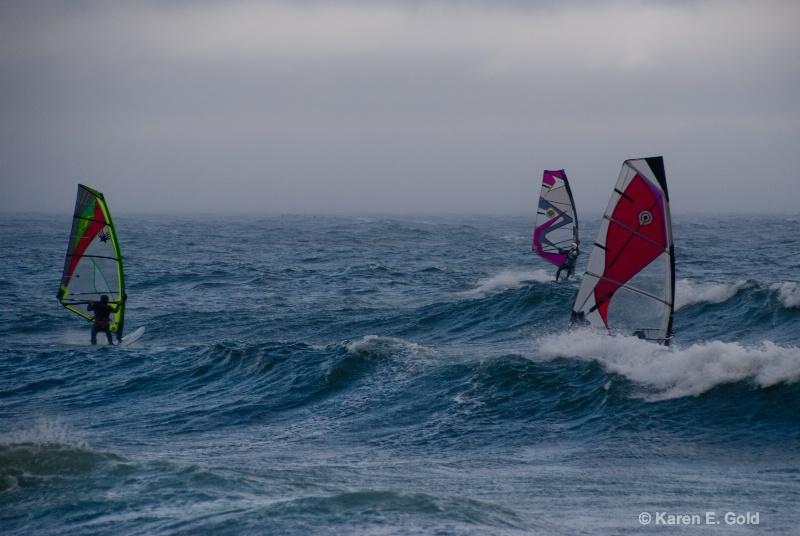 Stormy Day Windsurfing