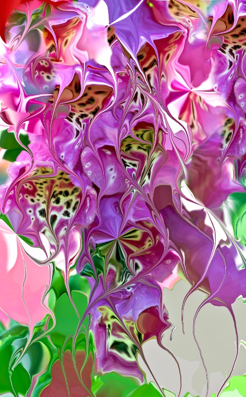 Foxglove Abstract