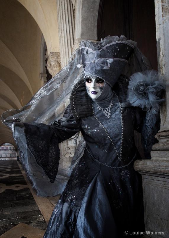 Veiled Lady in Venice