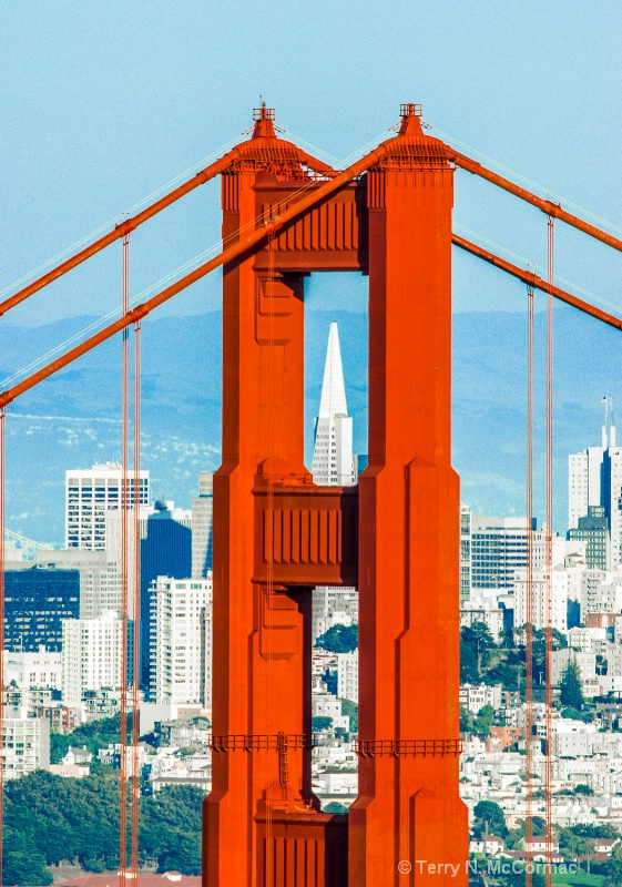 Golden Gate Bridge & the Transamerica Building