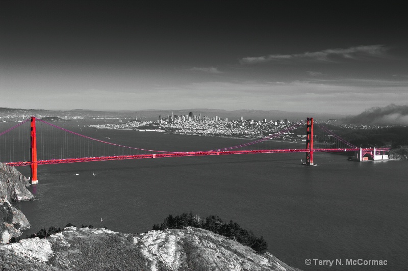 Golden Gate Bridge From the Marin Headlins