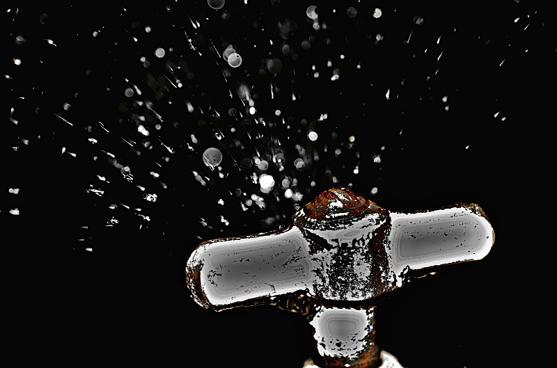 Water Tap and Flying Drops