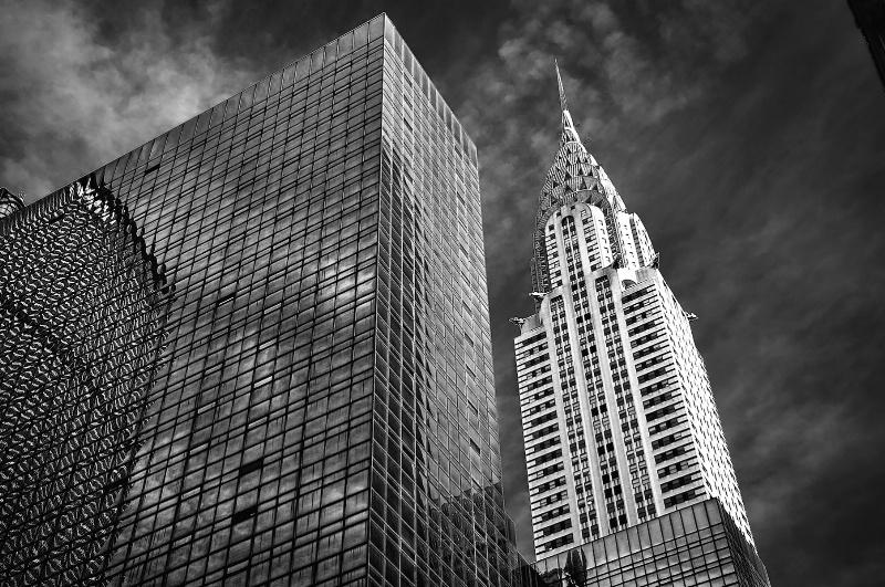 Chrysler Building in BW