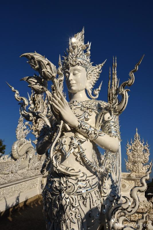 Asmara at Thailand's White Temple