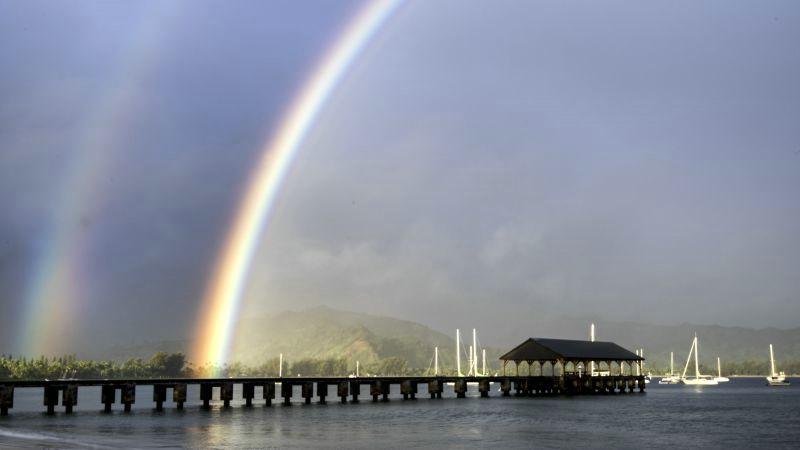 Double Rainbow at Hanalei