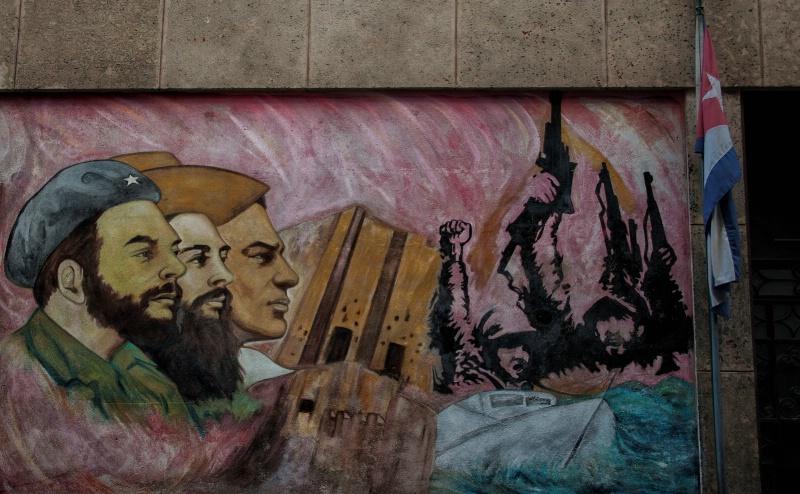 Political statement on a wall - Havana, Cuba