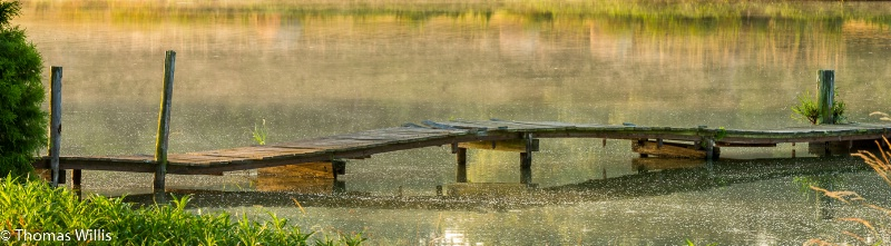 A ranch pond pier with character