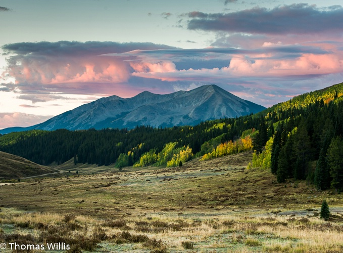 Looking back toward Crested Butte, Co.