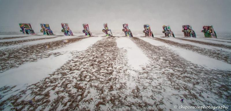 Cadillac Ranch - Winter