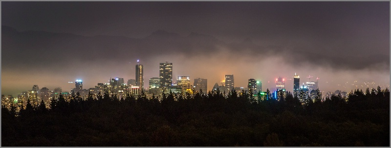 Vancouver Skyline from a Distance