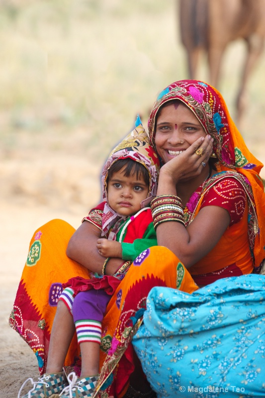 Mother and Child at Pushkar festival