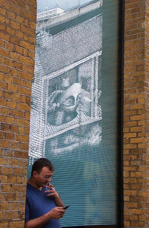Window Graffiti Reflection
