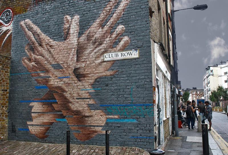 Club Row Hands Graffiti