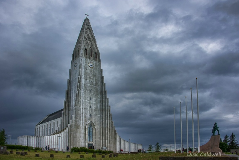 Hallgrimskirkja - exterior of the church Iceland
