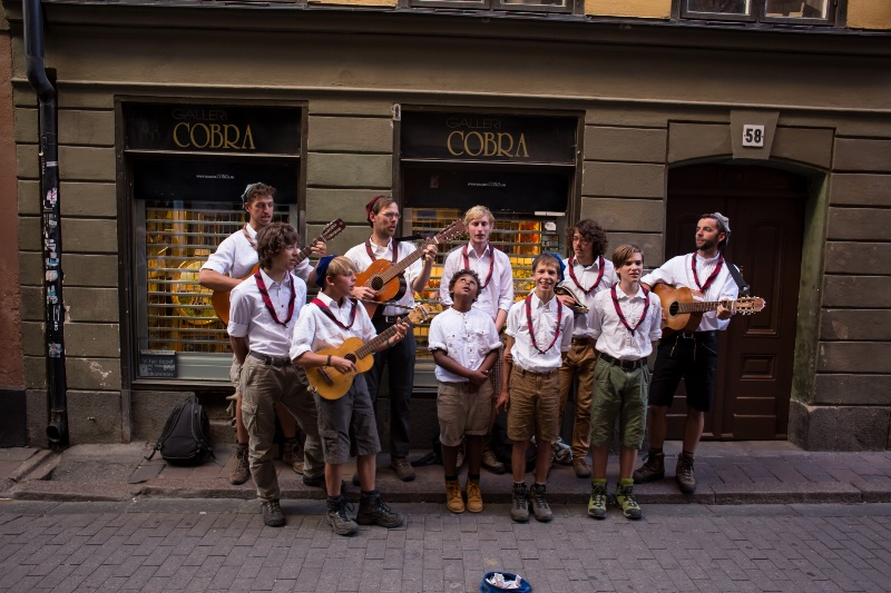 Alpine Band in Stockholm Street