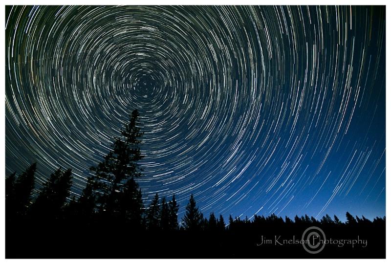 Startrail, Cypress Hills Alberta