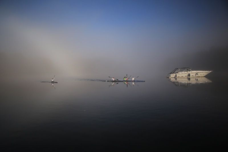 Misty Canoeing