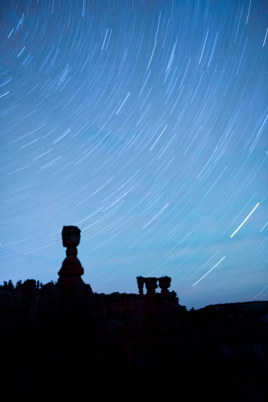 Star Trails at Thor's Hammer