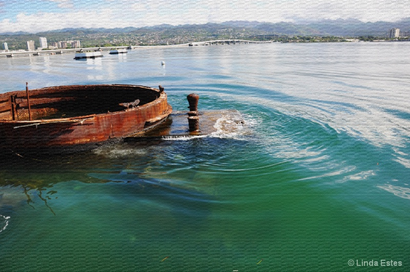 Sunken Hull of the USS Arizona