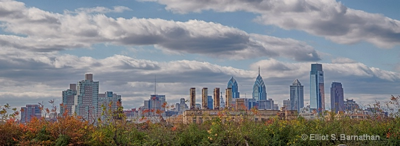 Philadelphia Skyline from Graffiti Pier