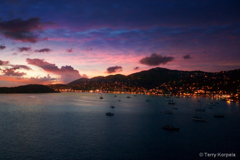 Sunset in St. Thomas