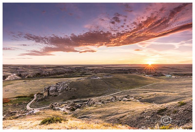 Writing on Stone Sunset