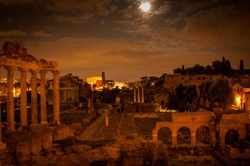 Roman Forum at Full Moon