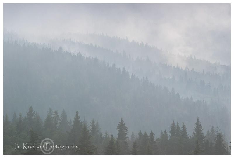 Cypress Hills Alberta in the clouds