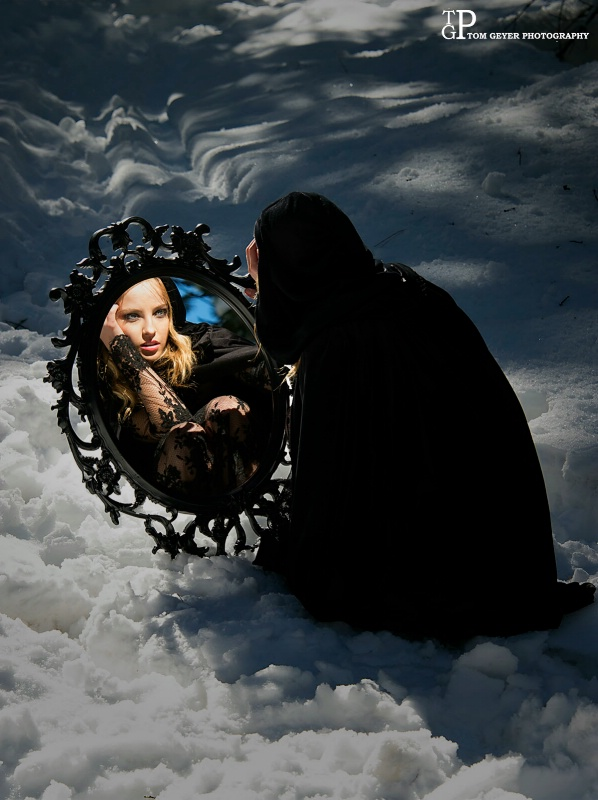 Mirror, mirror in  the snow..........