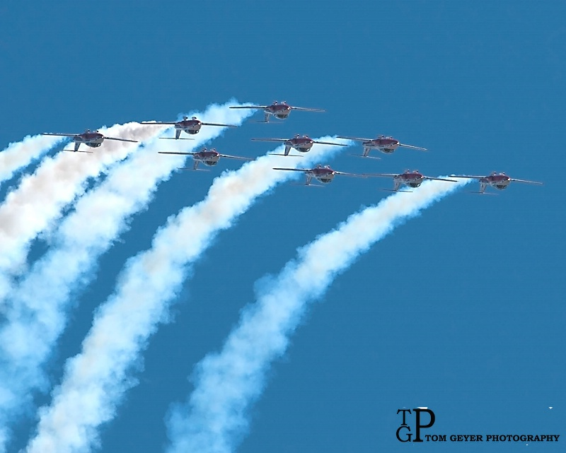 Canadian Snowbirds Over The Top