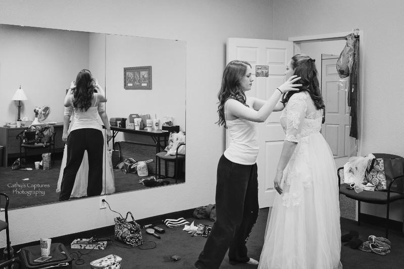 ~Sister Helping the Bride get Dressed~