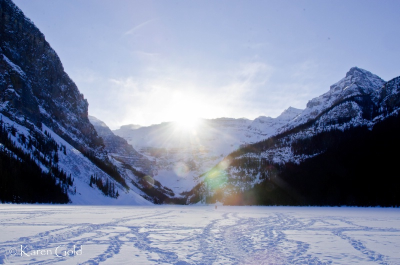 A Frozen Lake Louise at Sunset #2