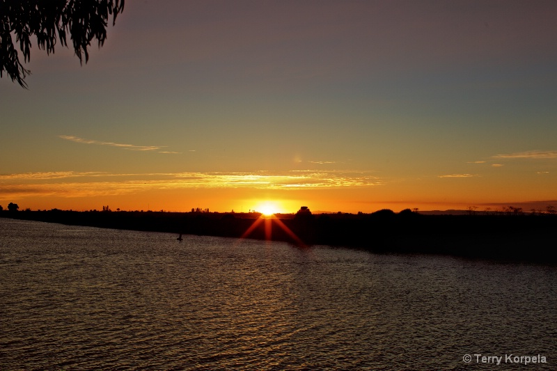 California Delta Sunset