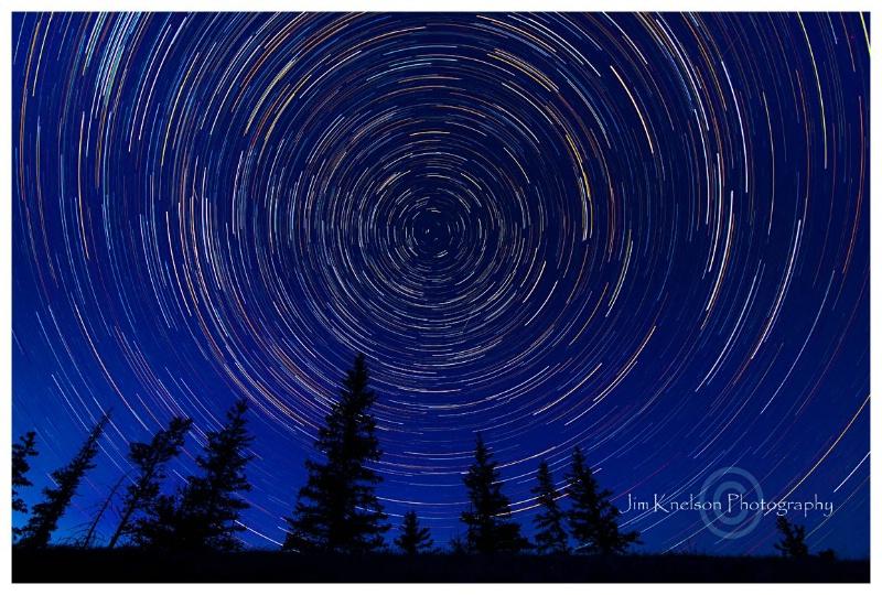 Cypress Hills Alberta Night Sky