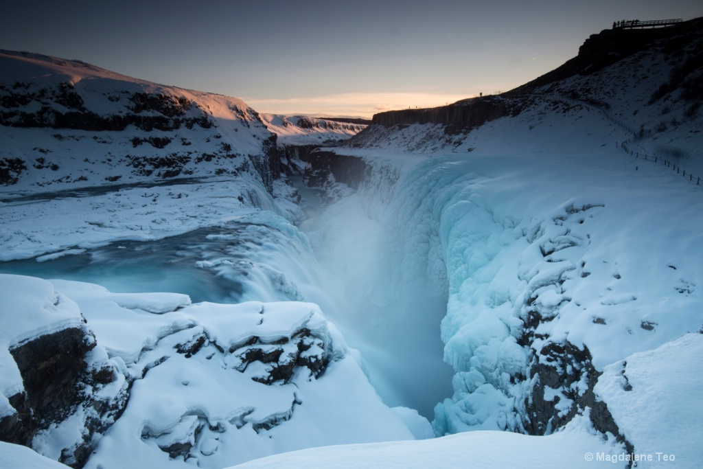 Sunset over Gullfoss