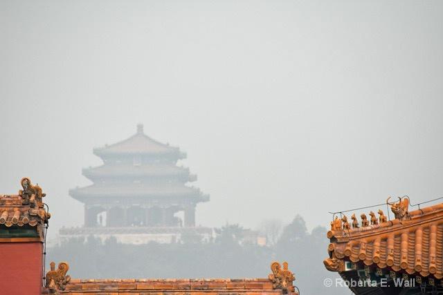 moderate smog in Forbidden City