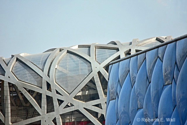 Olympic cube in Beijing